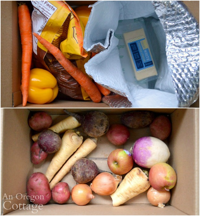 Imperfect Foods box packaging and produce