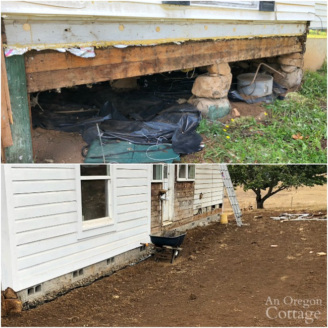 farmhouse fixer foundation before and after