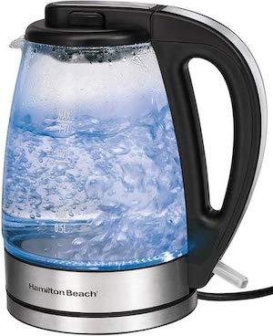 Hamilton Beach glass electric kettle
