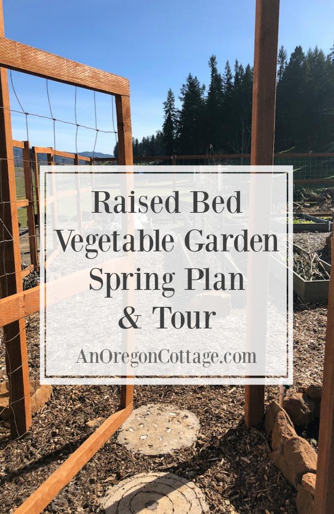 Raised bed vegetable garden spring plan-tour