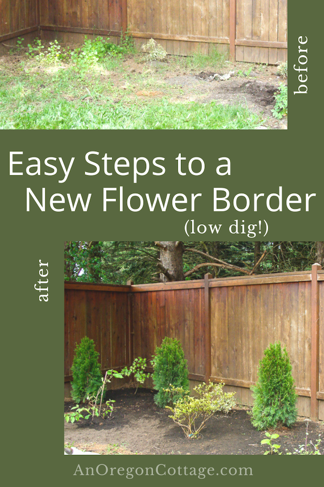 Easy steps to a new flower border