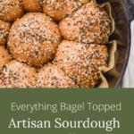 artisan sourdough rolls with bagel seasoning