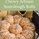 chewy artisan sourdough rolls with topping