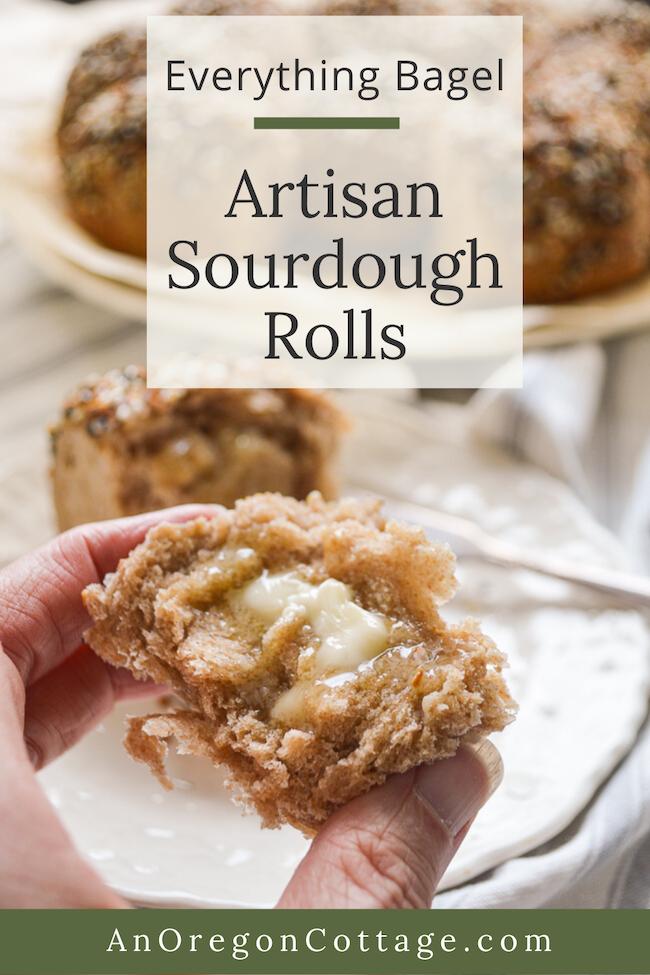 everything bagel artisan sourdough rolls