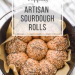 everything bagel topping artisan sourdough rolls in pot