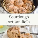 sourdough artisan rolls on plate