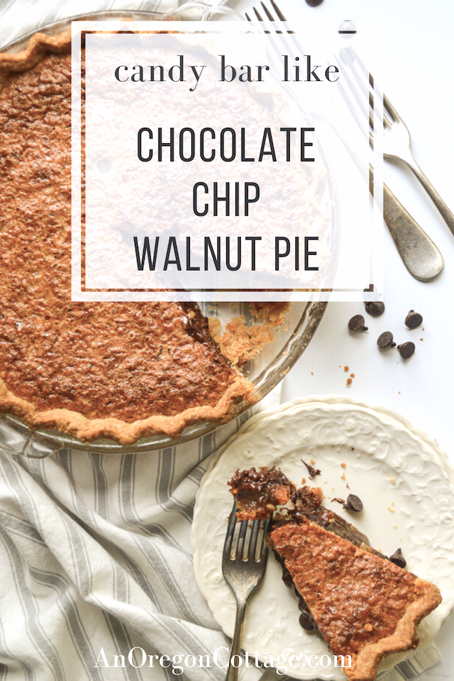 candy bar chocolate chip walnut pie