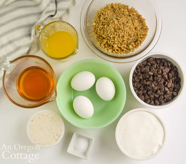 chocolate chip walnut pie ingredients