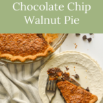 decadent chocolate chip walnut pie