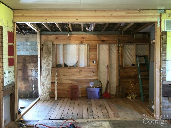 farmhouse beam installed