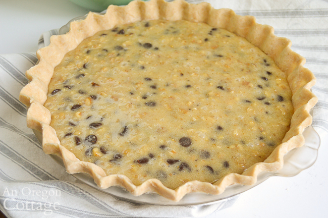 unbaked chocolate chip walnut pie