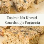 easiest no knead sourdough focaccia
