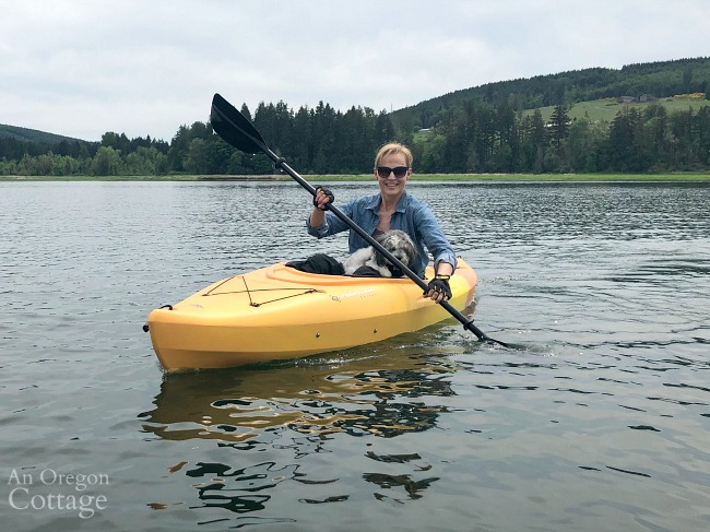kayaking with small dog