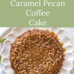 sourdough caramel pecan coffee cake