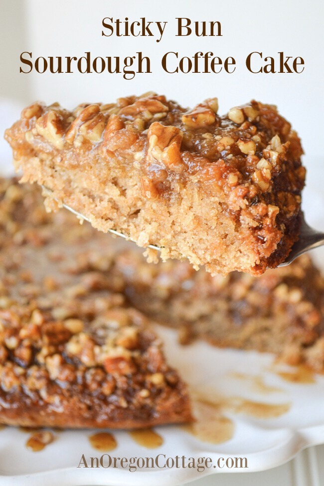 sticky bun sourdough coffee cake piece
