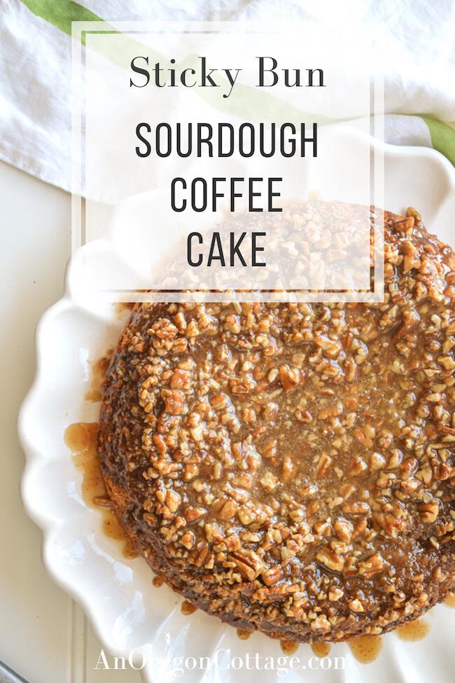 sticky bun sourdough coffee cake