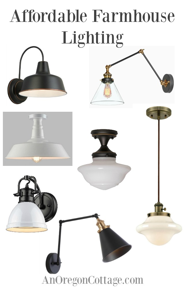 affordable farmhouse lighting