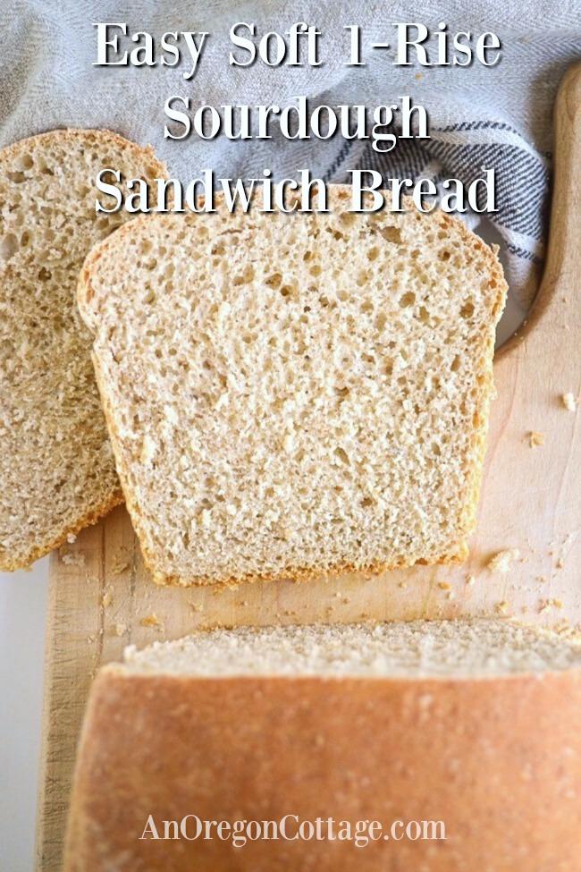 easy 1-rise soft sourdough sandwich bread