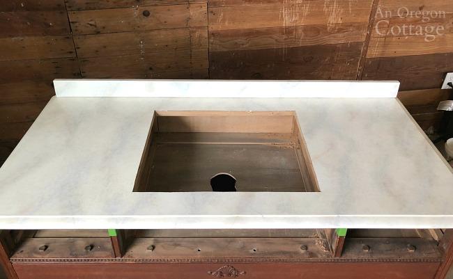 painted marble dresser-vanity