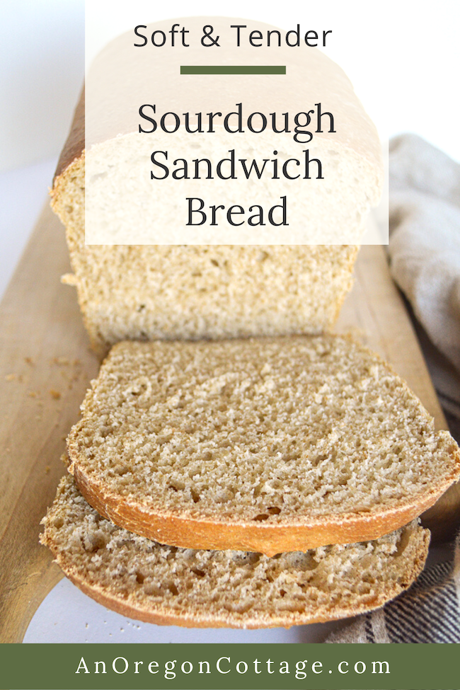 soft tender sourdough sandwich bread