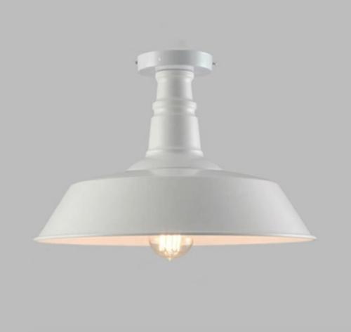 farmhouse white barn ceiling lamp