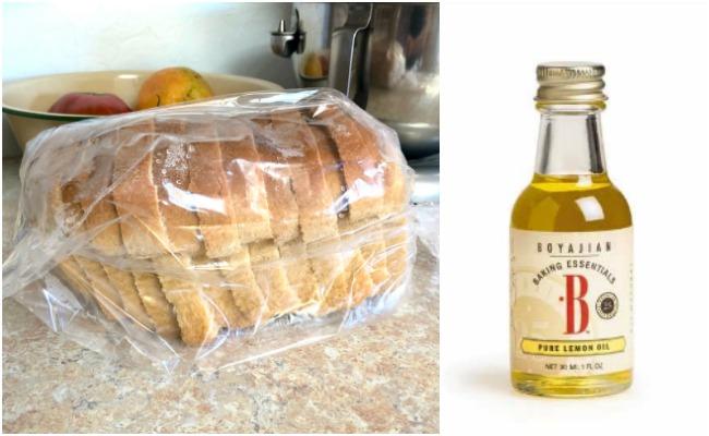 bread bags-lemon oil