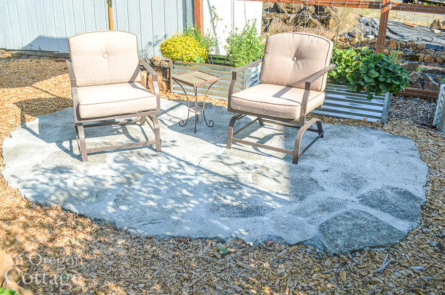 broken concrete patio