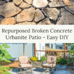 broken concrete urbanite diy patio
