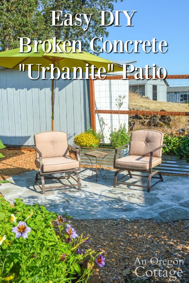 easy diy broken concrete patio