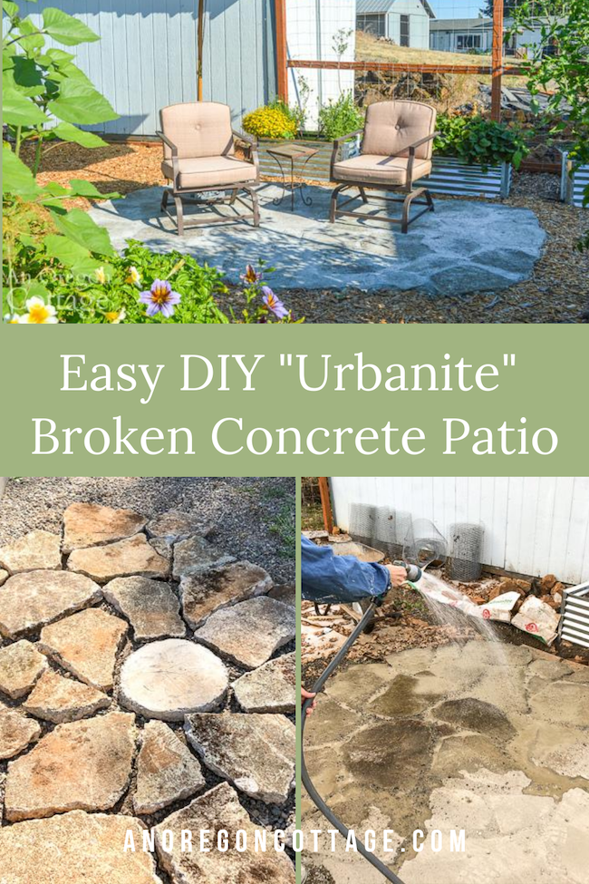 easy urbanite broken concrete patio
