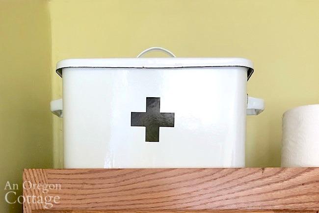 enamel first aid box