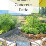 how to make a broken concrete patio