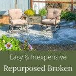 inexpensive repurposed broken concrete patio