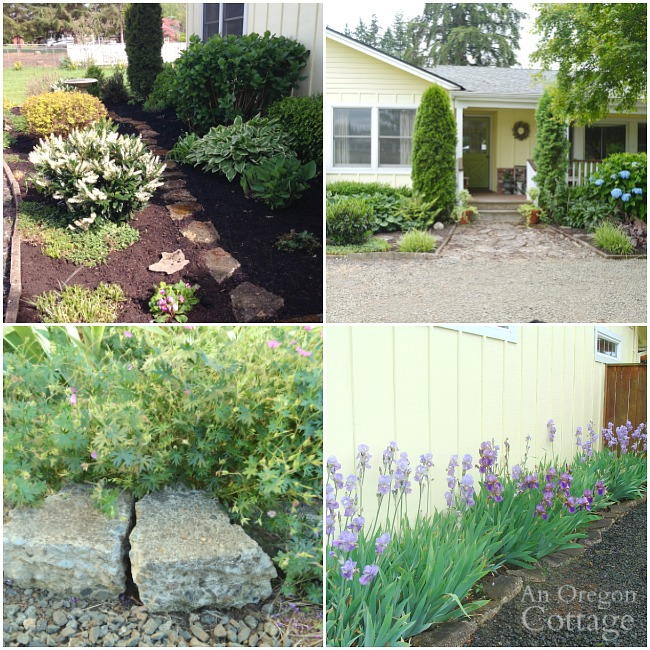 using broken concrete in gardens
