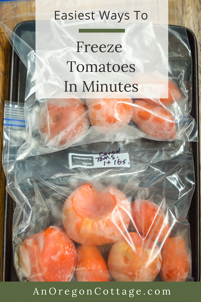 freeze tomatoes in minutes in baggies
