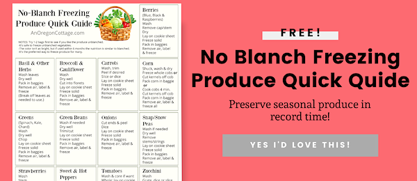 no blanch freezing guide form