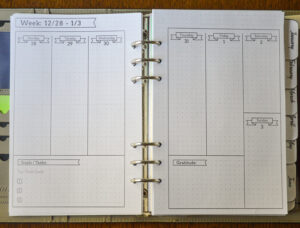 2021 Flexible Planner-weekly calendar pages