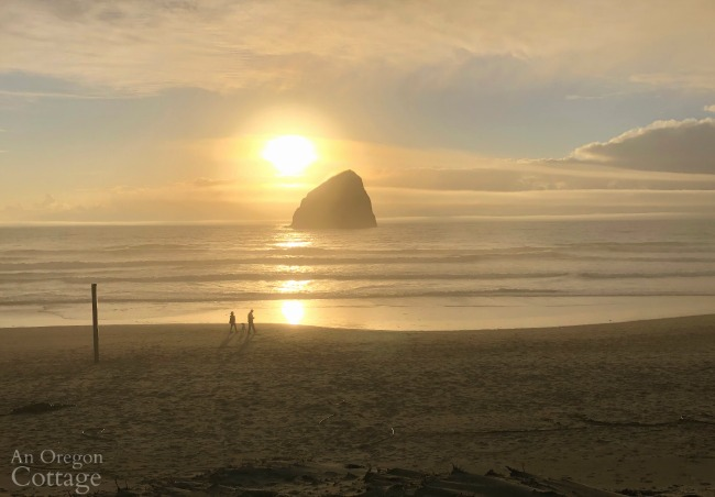 Pacific City OR Haystack Rock sunset