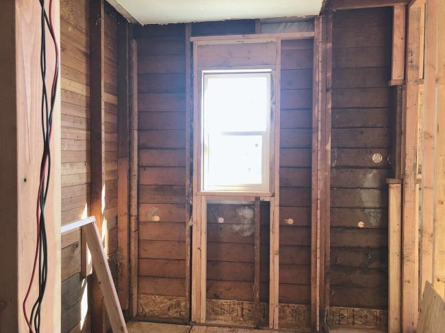 New bathroom window framed