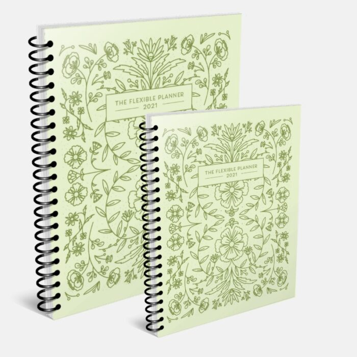 The Flexible Planner DATED coil bound covers-gray