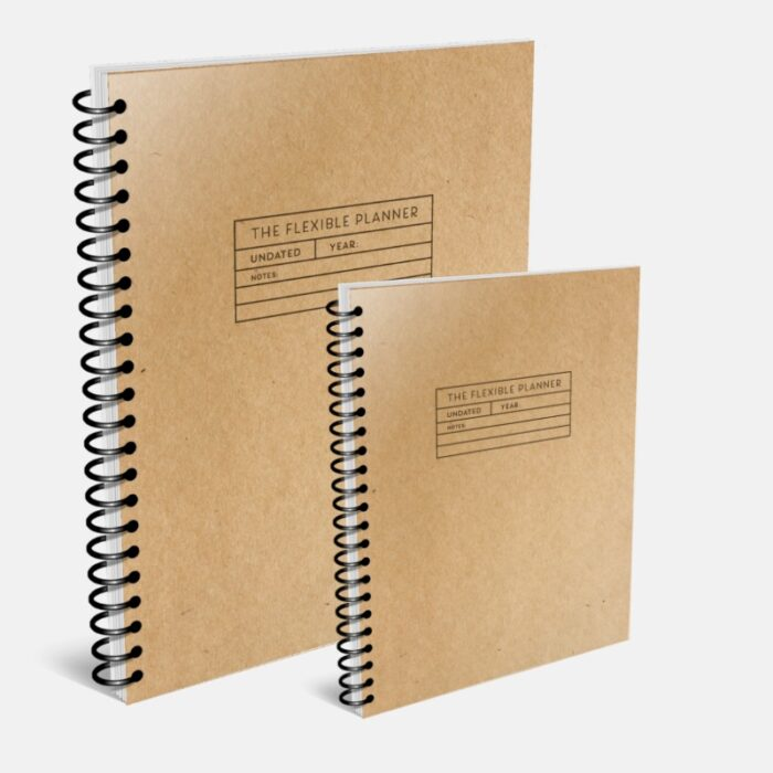 The Flexible Planner UNDATED coil bound covers-gray