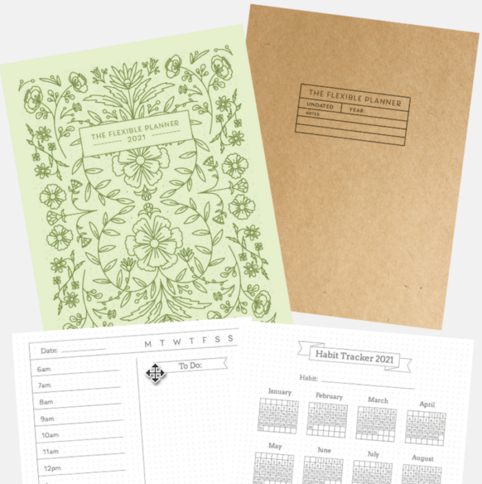 The Flexible Planner printable pdf covers-bonuses