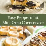 easy peppermint mini cookie cheesecake
