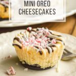 easy peppermint mini oreo cheesecakes