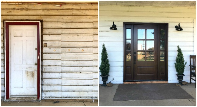 farmhouse front door before-after