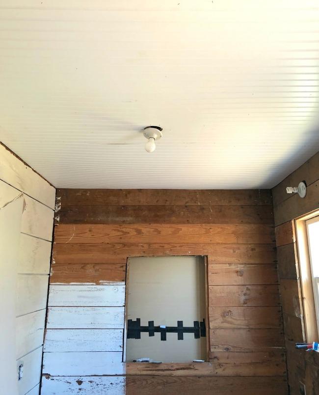 laundry room ceiling beadboard