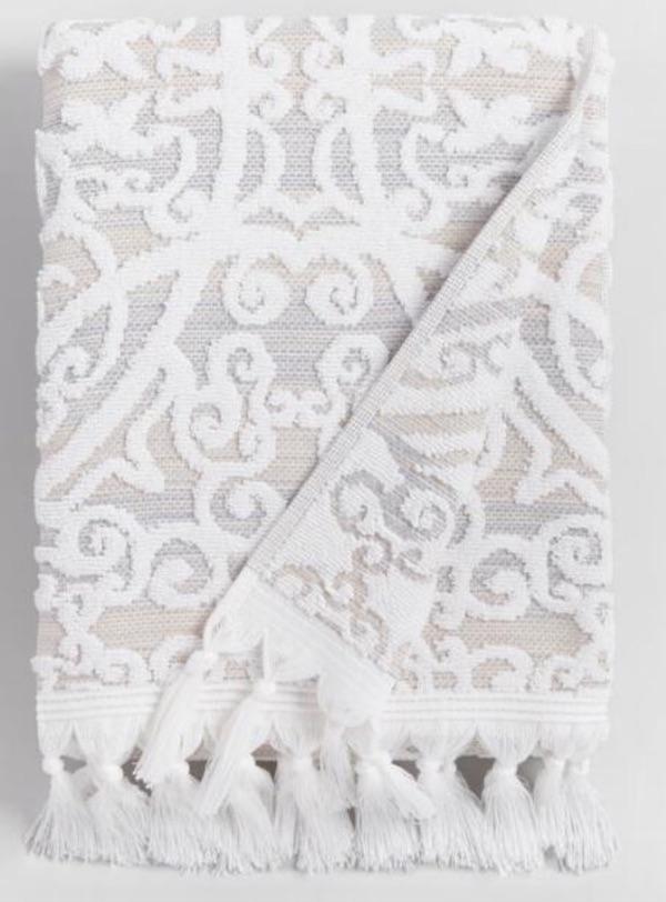world market white-gray towel