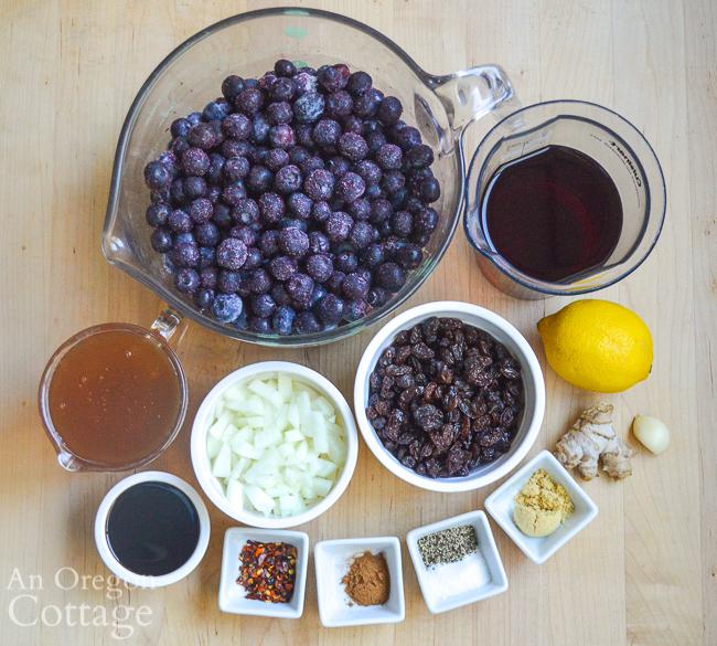 blueberry chutney ingredients