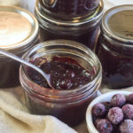 blueberry chutney spoon in jar