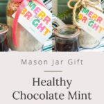 Mason jar healthy chocolate mint cookies